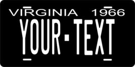 Virginia 1966 Personalized Tag Vehicle Car Auto License Plate - $16.75