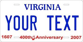 Virginia 2007 Personalized Tag Vehicle Car Auto License Plate - $16.75