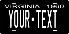 Virginia 1960 Personalized Tag Vehicle Car Auto License Plate - $16.75