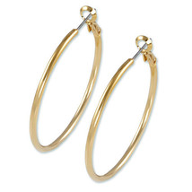 "2"" Large Y  Gold ""Nickel Free Hoop Earring-Omega Back-.USA MADE GREAT QU... - $14.84"