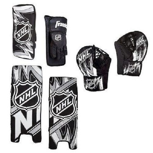 Street Hockey Goalie Pads Set Youth Team Sports Kids Play Equipment Gear Gloves