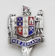 Collector Souvenir Spoon New Zealand Coat of Arms Cloisonne Emblem - $14.99