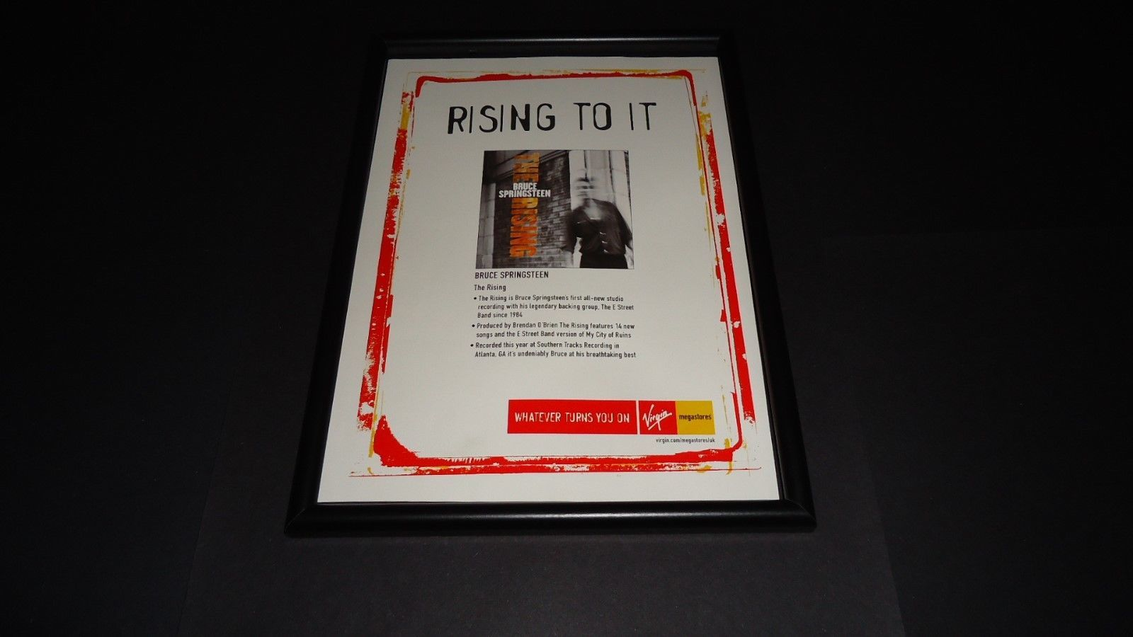 Primary image for Bruce Sprinsteen-The Rising-Original advert framed
