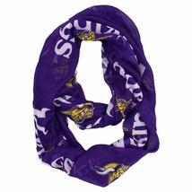 NFL Minnesota Vikings Sheer Infinity Plaid Scarf - $14.01