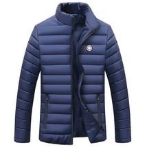 PEILOW Winter Jacket Men 2018 new Fashion Stand Collar Male Parka Jacket... - $43.44