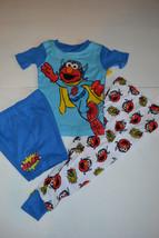 Toddler Sesame Street  3-Piece  Pajamas Elmo Sizes  4T NWT  - $13.59