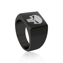 The Punisher  Black Square Stainless Steel Ring - $27.99