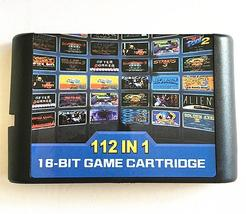 112 in 1 Game Cartridge 16 bit Game Card For Sega Mega Drive MD for Mega... - $24.00
