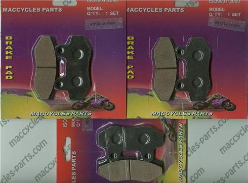 Hyosung Disc Brake Pads GV650 2006-2009 Front & Rear (3 sets)