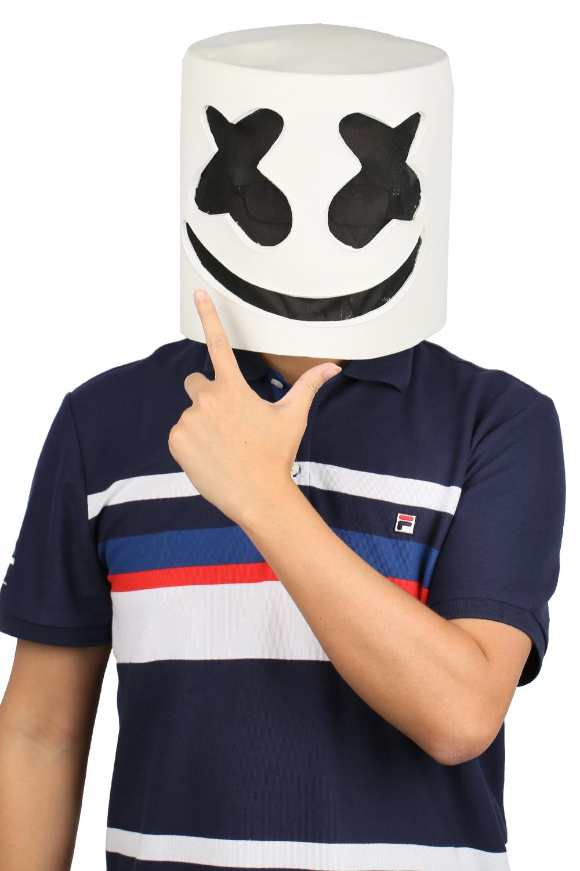 XCOSER Marshmello Helmet Full Head Latex Mask Marshmello Cosplay Mask image 2