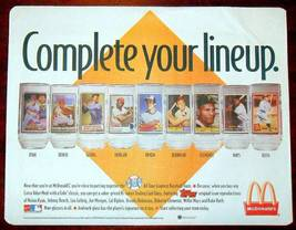 1993 mcdonalds topps cal ripken jr promo baseball glass 1985 orioles coc... - $9.99
