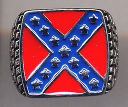 NEW STAINLESS STEEL MEN BATTLE FLAG RING SIZE 9 - $16.99