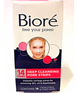 New Biore Deep Cleansing Pore Strips 7 Nose & 7 Face Strips 14 Count Com... - $10.00
