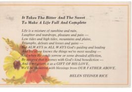 Helen Steiner Rice (Christian Inspirational Quote (vintage 1970s) postcard - $3.00