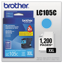 LC105C, LC-105C, Innobella Super High-Yield Ink, 1200 Page-Yield, Cyan, ... - $145.75
