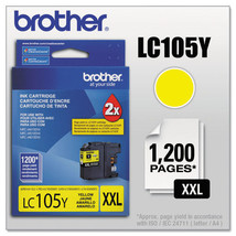 LC105Y, LC-105Y, Innobella Super High-Yield Ink, 1200 Page-Yield, Yellow... - $64.93