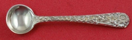 "Repousse by Kirk Sterling Silver Salt Spoon Original 2 3/8"" Heirloom Ser... - $39.00"
