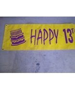 Happy Birthday Banner Sign personalized Julie 13th Party - $46.95