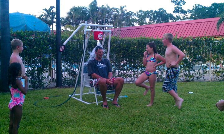 Soak 'n' Wet (Less expensive and portable alternative to a Dunk Tank!)
