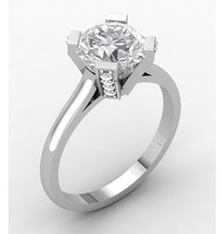 Engagement Ring Solid 10 k with Created Diamond - $599.00