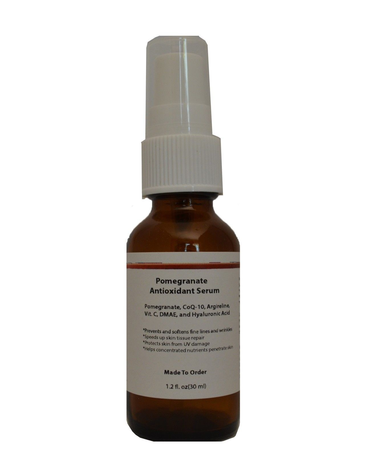 Pomegranate Anti Oxidant Serum with CoQ-10, Argireline, Vitamin C, DMAE, HA - $17.33 - $27.23