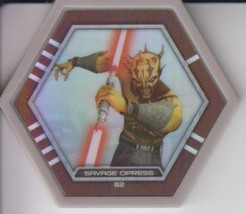 Savage Opress 2016 Topps Star Wars Galactic Connexions Common Gray Foil ... - $1.50
