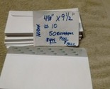 "50 Universal Business Envelopes #10  No Window  4 1/8 "" x 9 1/2"" Peel & Seal"