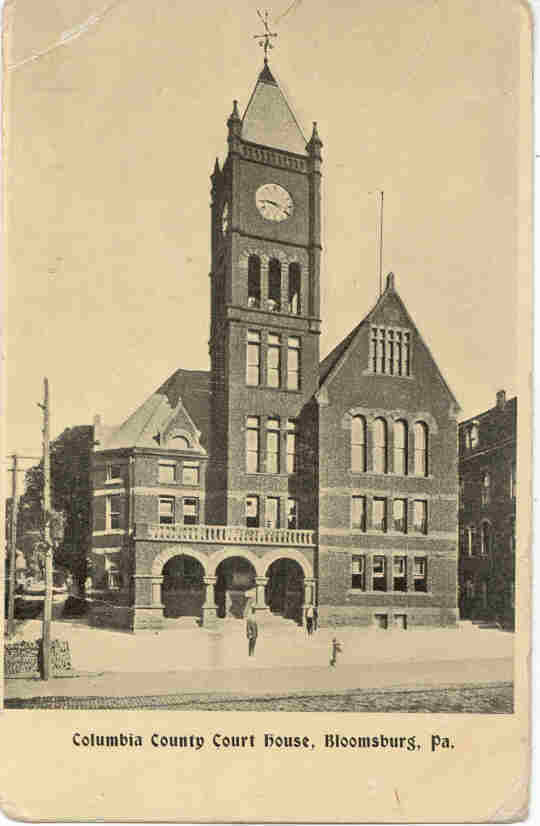 Primary image for County Court House Bloomsburg Pennsylvania 1910 Post Card