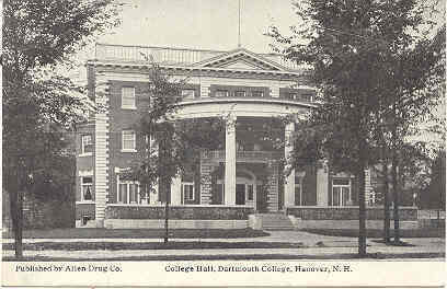 Primary image for Dartmouth College Hall Hanover New Hampshire Vintage Post Card