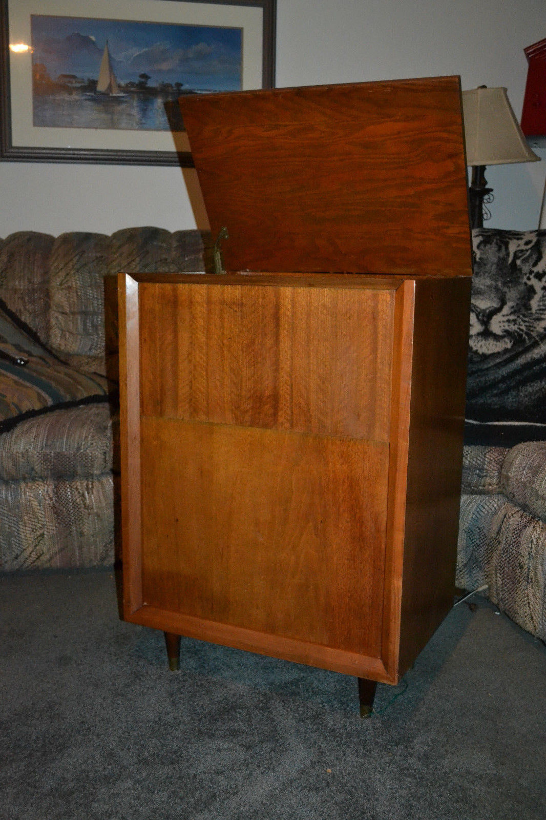 stereo cabinet vintage vintage gerrad rc88 4 turntable phonograph wood stereo 26792