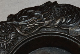 Antique Cast Iron Chinese Japan Gargoyle Dragon Dish Bowl  Saucer Plate ... - $98.89