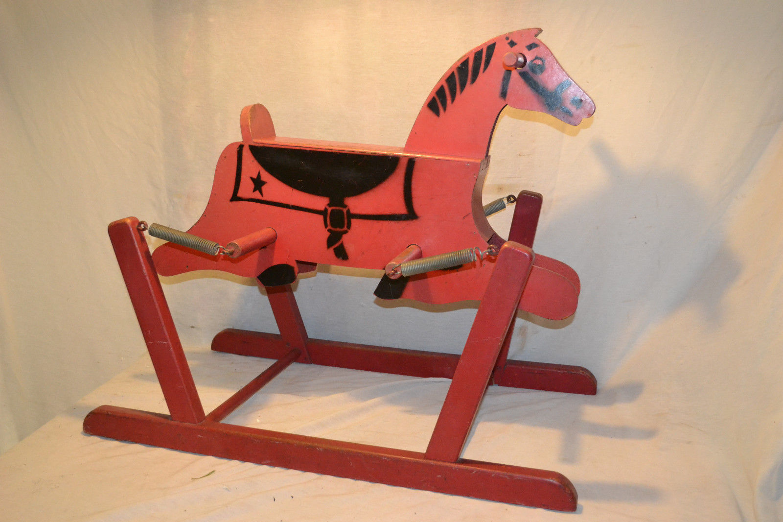 VTG 1940-50`s THE WONDER HORSE BOUNCING ROCKING SPRING TOY HORSE