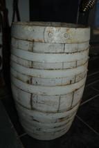Heavy Duty Old Antique Wood Whiskey Cask Beer Barrel Powder Keg 8 Iron B... - $211.06