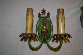 Antique Victorian Art Deco matching Brass wall Sconce Light Fixture set - $112.26
