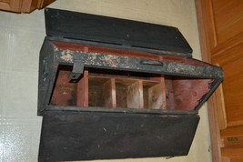 Antique Primitive Wood Farm House Barn Tool Chest Tool box  Crate  box - $89.07