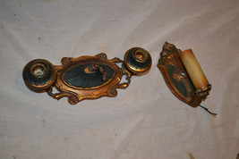 Antique Vtg Art Deco Brass Ceiling wall Sconce... - $148.29