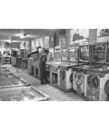 Arcade Woodrail Pinball Games 1950's Vintage 8x... - $23.30