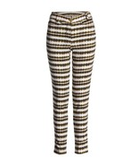 Conquista Designer Fitted Print Trousers - $140.99