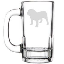 12oz Beer Mug Stein Glass Bulldog Dog - $12.86