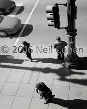 3 Pedestrians Downtown Chicago Street Corner b&... - $45.00 - $85.00