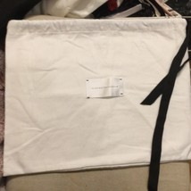 Victoria Beckham 17x13 dust bag white with black logo - $19.79