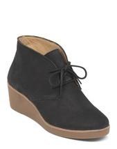Lucky Brand Junes Casual Wedge Bootie Shoe Women's 6.5 Black - $54.17