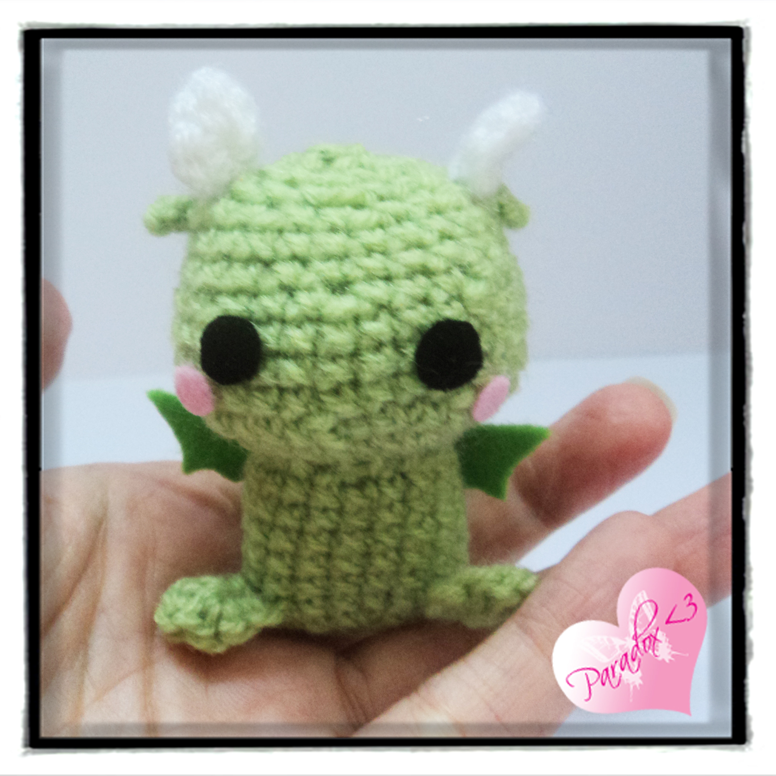 Handmade Crochet Dragon Amigurumi Toy Plush Kawaii Doll ...