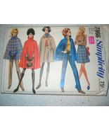 Vintage 1968 Simplicity Miss Size 12 Cape Skirt & Pants Pattern # 7866 - $5.99