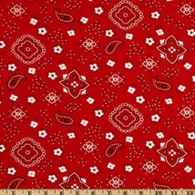 Richland Textiles Bandana Prints Red Fabric by The Yard image 1