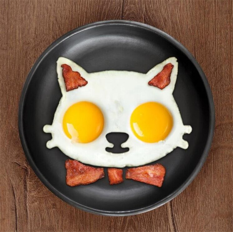1pc Kitchen Silicone Cats Egg Shaper Fried Eggs Mould Cute LS