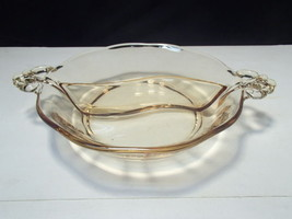 Fostoria Lafayette 2 Part Serving Dish~~Topaz / Gold Tint - $14.99