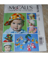 MCCALLS M6575 INFANTS BABY HATS & SOFT SHOES SEWING PATTERN UNCUT - $6.50