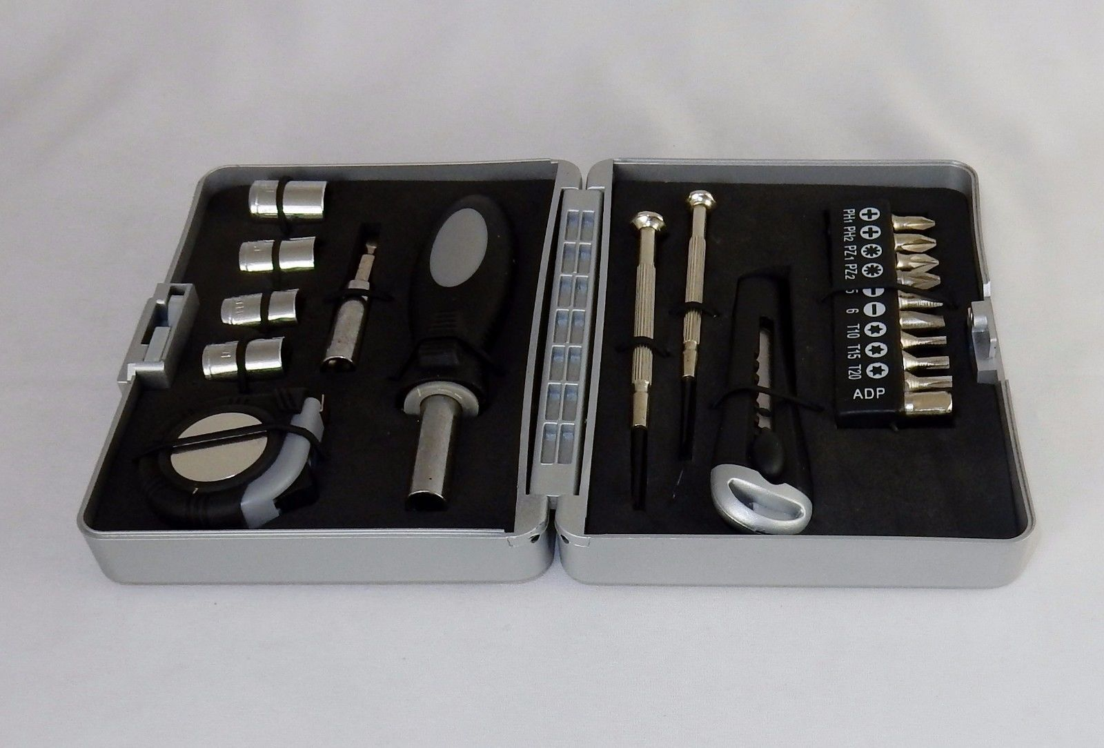 20 Pc Handyman Tool Kit ~ Hard Shell Plastic Case, Home, Travel, Office  #TS114