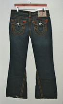 TRUE RELIGION JOEY SUPER T DISTRESSED BOLD THREAD FLAP POCKET JEANS 32 - $99.99